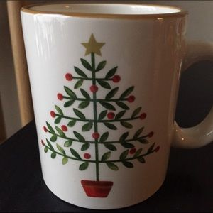 PIER 1 OH TANNENBAUM O FOLK ART CHRISTMAS TREE MUG